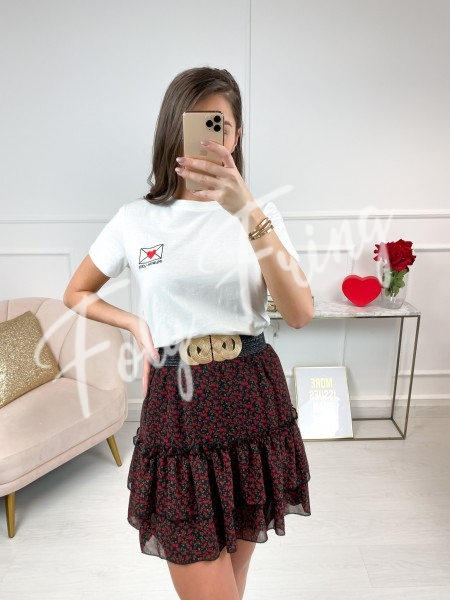 T-SHIRT FASHIONISTA LETTER RED