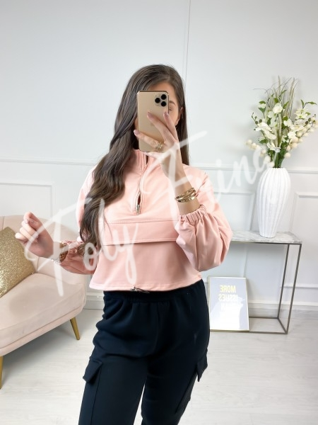 PULL CROPPED FASHIONISTA PINK