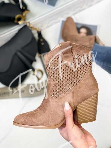 BOOTS SANTIAGS SHINY CAMEL
