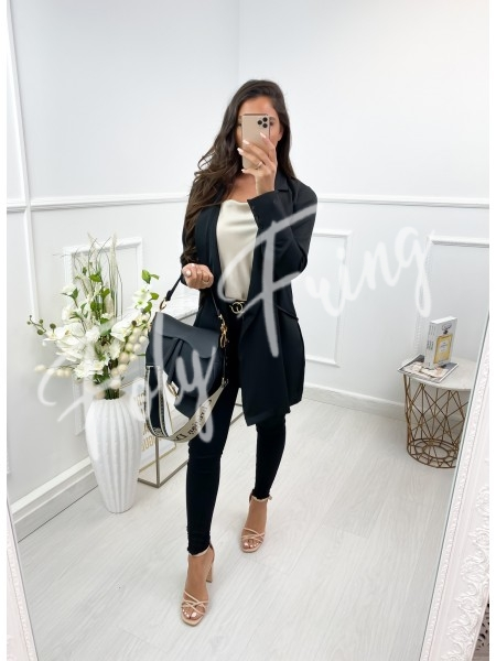 TRENCH FLUIDE A NOUER BLACK
