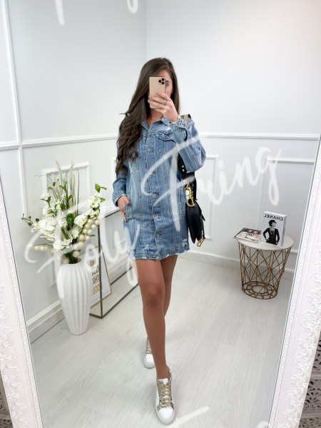 VESTE JEAN DESTROY LIGHT BLUE