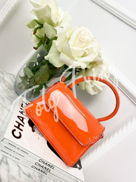 MINI SAC VERNIS ORANGE