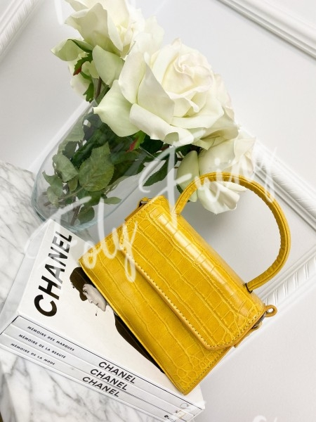MINI SAC CROCO YELLOW