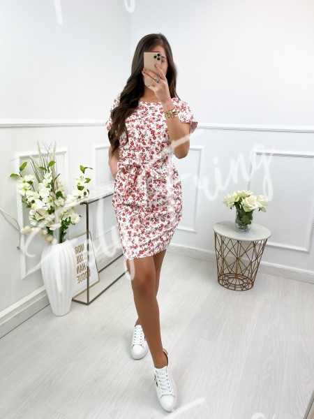 ROBE FLOWERS A NOUER WHITE