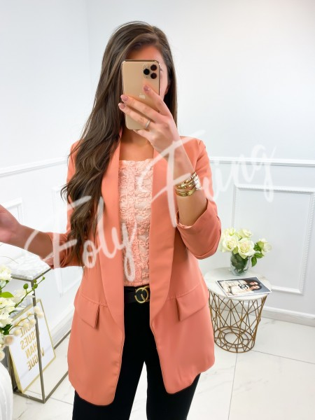 VESTE WORKING GIRL CORAIL