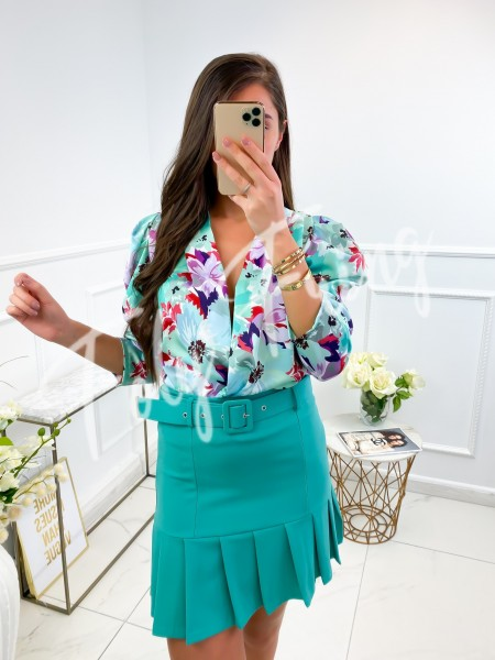 BODY CACHE COEUR FLOWERS GREEN