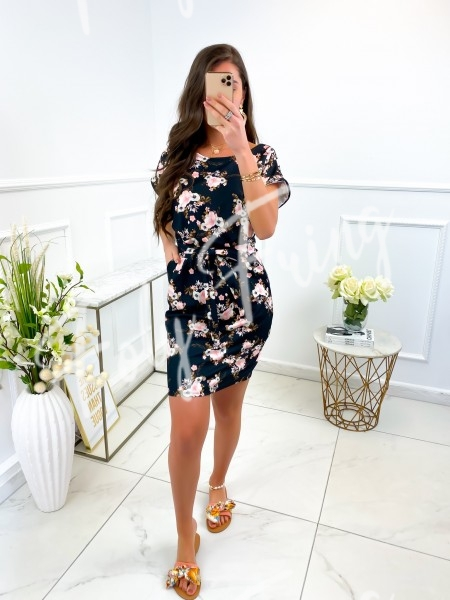 ROBE FLOWERS A NOUER &...