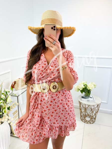 ROBE CACHE COEUR FLOWERS PINK
