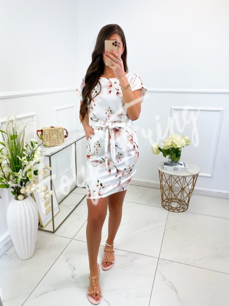 ROBE FLOWERS NUDE A NOUER &...