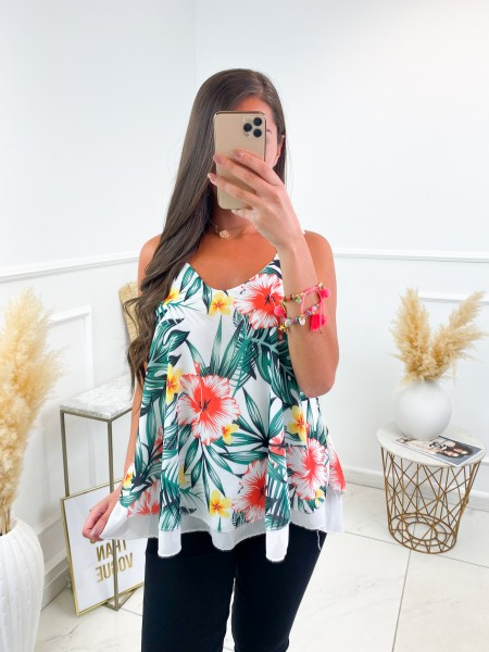TOP FLUIDE TROPICAL WHITE