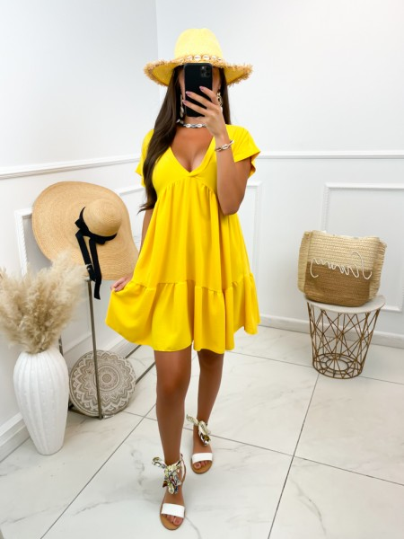 ROBE FLUIDE COL V YELLOW