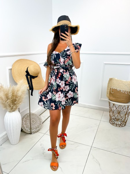 ROBE FLOWERS A NOUER BLACK