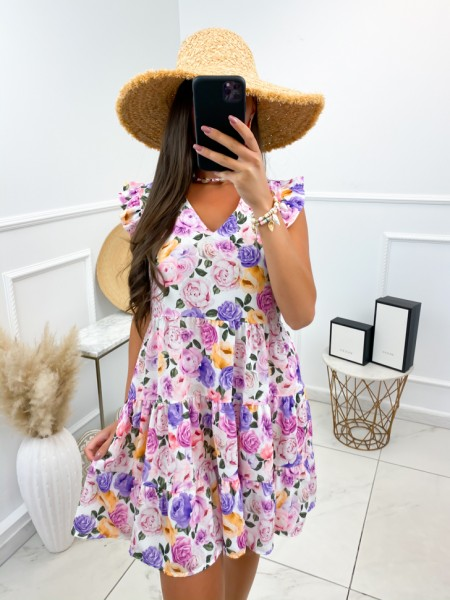 ROBE FLOWERS A VOLANTS...