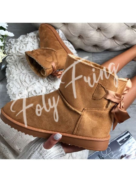 *** BOOTS FOURREES NOEUDS BABY CAMEL ****