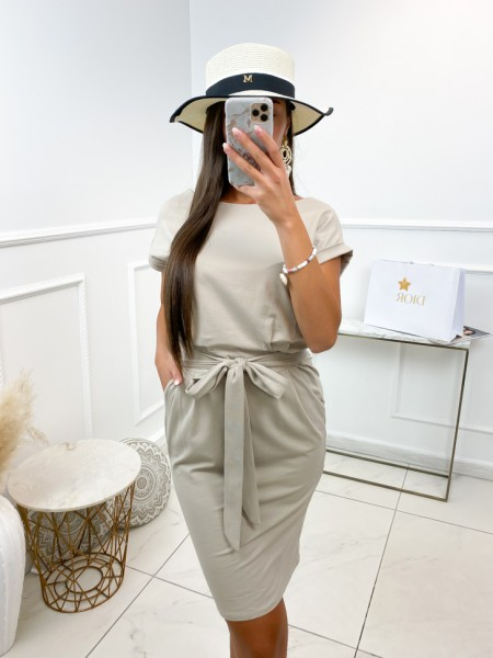 ROBE A NOUER & POCHES NUDE