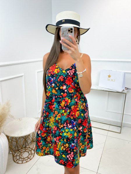 ROBE FLOWERS DETAILS GOLD &...