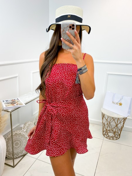 ROBE A POIS RED