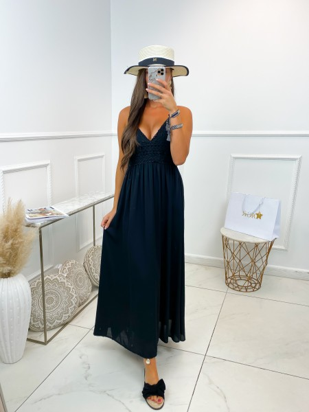 MAXI ROBE BRODERIE BLACK