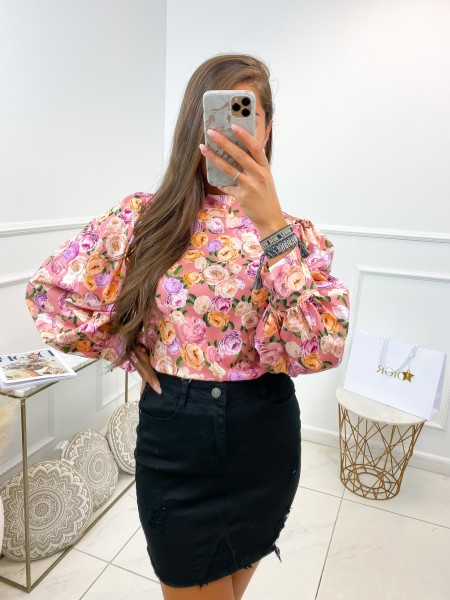 BLOUSE FLOWERS PINK